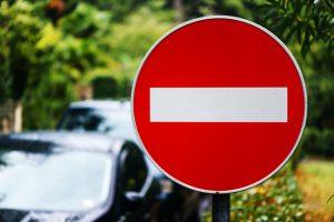 Въезд запрещен дорожный знак