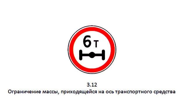 Дорожный знак ограничение по весу