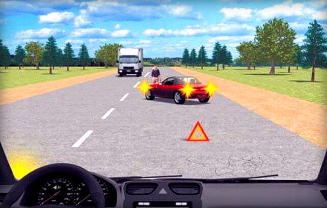 Штраф за объезд препятствия с выездом на встречную полосу через сплошную линию разметки