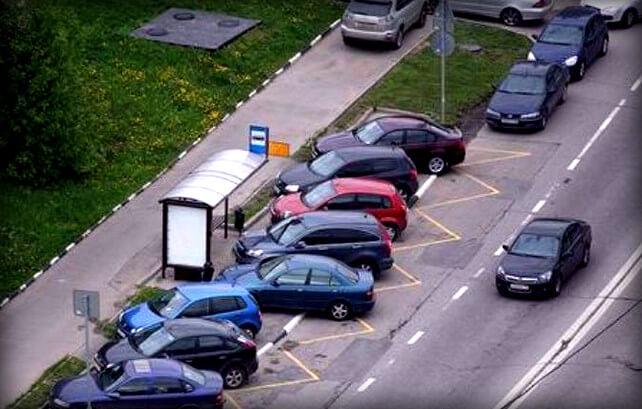 Штраф за парковку на автобусной остановке