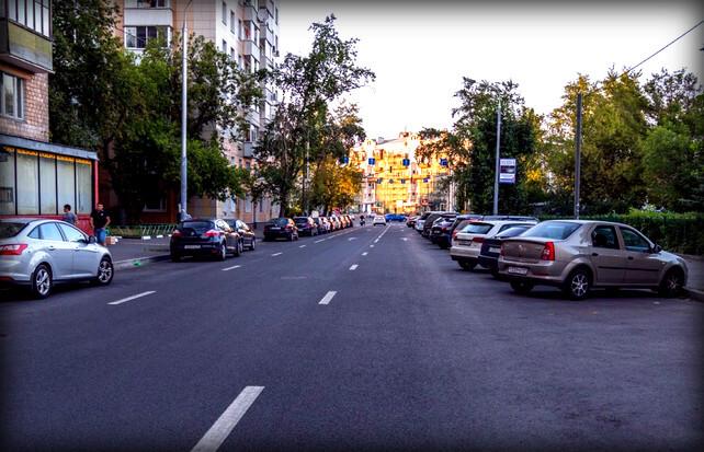 Парковка на проезжей части