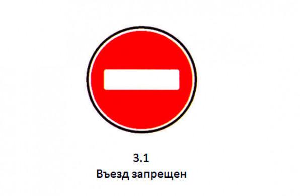 наказание за движение под знаком въезд запрещен